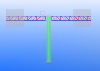 Semi-Pórtico Duplo para placas de sinalização